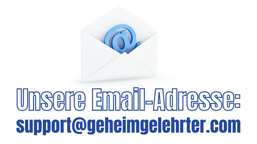 Unsere Email-Adresse: support@geheimgelehrter.com